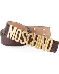 355440b6b0 Men's Moschino Belts - Lyst