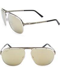 90f10d1afd9 Lyst - Cartier Round Tortoiseshell Sunglasses Brown in Metallic