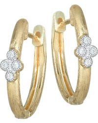 Jude Frances - Provence Diamond & 18k Yellow Gold Hoop Earrings - Lyst