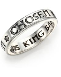 King Baby Studio - Sterling Silver Chosen Star Band Ring - Lyst