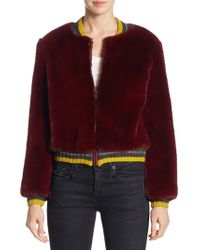 Barber - Donica Faux Fur Bomber Jacket - Lyst