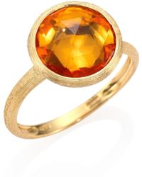 Marco Bicego - Citrine & 18k Yellow Gold Medium Stackable Ring - Lyst