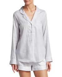 Saks Fifth Avenue - Shortie Stripe Pyjama Set - Lyst