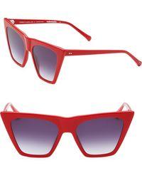 Colors In Optics - Metropolitan 55mm Cat Eye Sunglasses - Lyst