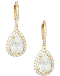 Adriana Orsini - 18k Goldplated Sterling Silver Framed Pear Earrings - Lyst