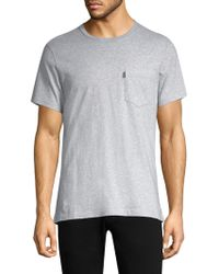 Barbour - Heathered Cotton Tee - Lyst