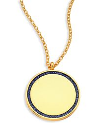 Astley Clarke - Cosmos Large Blue Sapphire & 14k Yellow Gold Locket Necklace - Lyst