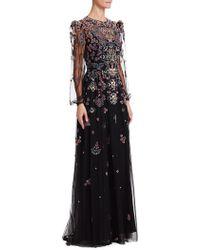 Zuhair Murad - Embroidered Blouson Sleeve Gown - Lyst