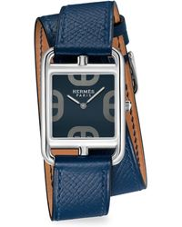 Hermès - Cape Cod Stainless Steel & Leather Strap Watch - Lyst