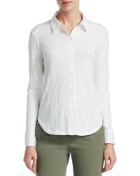 Theory - Ridro Button-front Shirt - Lyst