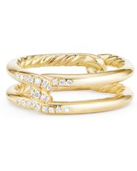 David Yurman - Continuance? Band Ring With Diamonds In 18k Gold - Lyst