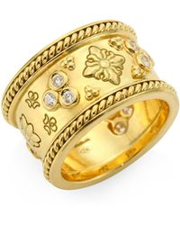Temple St. Clair - Nomad Diamond & 18k Yellow Gold Band Ring - Lyst