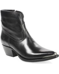 Frye - Shane Tip Short Leather Boots - Lyst