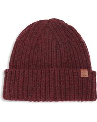 Bickley + Mitchell - Solid Lambswool Blend Knit Beanie - Lyst