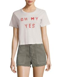 AMO - Oh My Yes Babe Tee - Lyst
