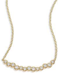Ippolita - Glamazon Stardust Diamond & 18k Yellow Gold Skinny Smile Bar Necklace - Lyst