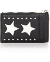 Rebecca Minkoff - St. Tropez Stars Zip Leather Card Case - Lyst