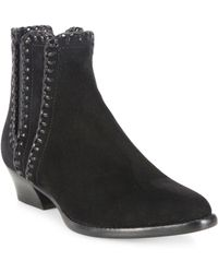 Michael Kors - Presley Whipstitched Suede Booties - Lyst