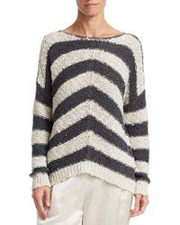 Fabiana Filippi - Wide Striped Knit Jumper - Lyst