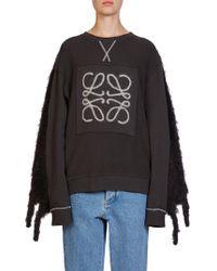 Loewe - Fringe Mohair Sweatshirt - Lyst