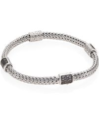 John Hardy - Classic Chain Extra Small Grey Sapphire & Sterling Silver Four-station Bracelet - Lyst