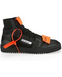 31c280384e0c4e Off-White c/o Virgil Abloh Low 3.0 Leather High Top Sneakers in ...