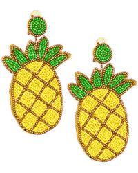 Kenneth Jay Lane - Pineapple Seedbead Clip-on Earrings - Lyst
