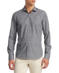 Saks Fifth Avenue - Collection Dotted Cotton Button-down Shirt - Lyst