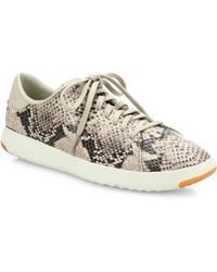 Cole Haan | Grandpro Tennis Snake-embossed Leather Trainers | Lyst