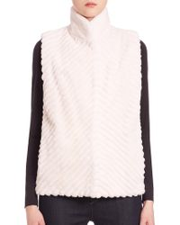 Saks Fifth Avenue - Reversible Fur Vest - Lyst