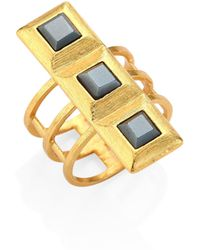 Stephanie Kantis | Quad Square Hematite Ring | Lyst
