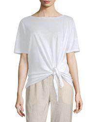 Eileen Fisher - Ballet Tie-front Tee - Lyst