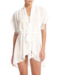 Jonquil | Raquel Chiffon Short Wrap Robe | Lyst