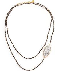 Shana Gulati - Banjara Sirsi Sliced Raw Diamond & Pyrite Necklace - Lyst