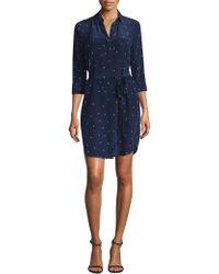 L'Agence - Stella Star Print Shirtdress - Lyst