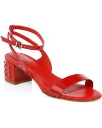 Tod's - Leather Slingback Sandals - Lyst