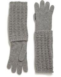 Moncler - Long Knit Gloves - Lyst