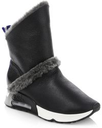 Ash - Laika Leather & Shearling Boots - Lyst