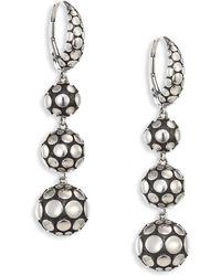 John Hardy - Dot Sterling Silver Sphere Drop Earrings - Lyst
