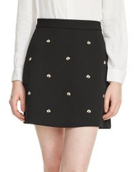 Maje - Bee Embellished Skirt - Lyst