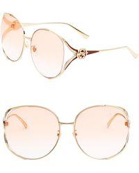 Gucci - Urban 63mm Round Sunglasses - Lyst