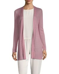 Eileen Fisher - Bracelet-sleeve Long Cardigan - Lyst