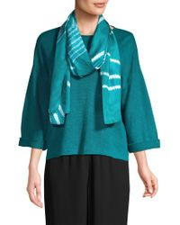 Eileen Fisher - Abstract Silk Scarf - Lyst