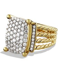 David Yurman - 'wheaton' Ring With Diamonds In Gold - Lyst