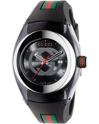 Gucci - Sync Stainless Steel Rubber Watch - Lyst
