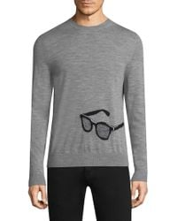 Paul Smith - Embroidered Sunglasses Sweater - Lyst