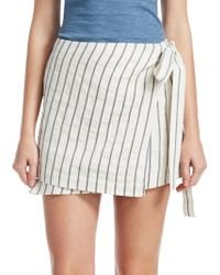 Theory - Striped Wrap Skirt - Lyst