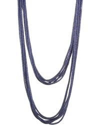 Lafayette 148 New York - Multi-strand Mesh Necklace - Lyst