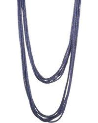 Lafayette 148 New York - Multi-strand Mesh Necklace - Lyst