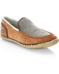 Sorel - Dude Faux Shearling Lined Suede Slip-on Sneakers - Lyst